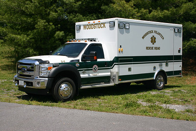 Ambulance 5-4 from Woodstock Rescue is this 2012 Ford-F550/AEV.