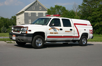 Woodstock's SERV 12 (Special Emergency Response Vehicle), a 2004 Chevrolet Silverado.