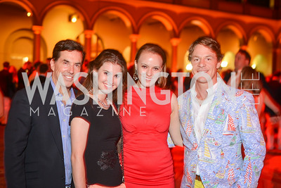 Bobby Schwartz, Jessa Coleman, Jenna Hughes, Justin Lange,  22nd Annual Sinatra Soiree, hosted by the Capital Club, at the National Building Museum, Thursday July 17th, 2014.  Photo by Ben Droz.