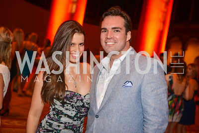 Adrienne Watson, Carl Bedell, 22nd Annual Sinatra Soiree, hosted by the Capital Club, at the National Building Museum, Thursday July 17th, 2014.  Photo by Ben Droz.