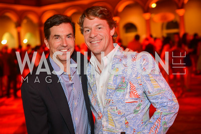 Bobby Schwartz, Justin Lange, 22nd Annual Sinatra Soiree, hosted by the Capital Club, at the National Building Museum, Thursday July 17th, 2014.  Photo by Ben Droz.