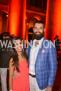 Ava Deylami, Nick Karnaze, 22nd Annual Sinatra Soiree, hosted by the Capital Club, at the National Building Museum, Thursday July 17th, 2014.  Photo by Ben Droz.