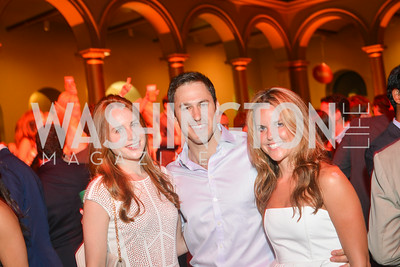 Molly McDonnell, Josh Kreider, Morgan Voss, 22nd Annual Sinatra Soiree, hosted by the Capital Club, at the National Building Museum, Thursday July 17th, 2014.  Photo by Ben Droz.