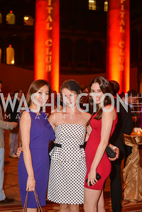 Yun Kim, Vasilisa Shvachko, Emily Blumenthal, 22nd Annual Sinatra Soiree, hosted by the Capital Club, at the National Building Museum, Thursday July 17th, 2014.  Photo by Ben Droz.