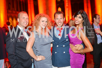 Matt Christiansen, Melissa Wilson, Ryan Rainer, Sher Sher,  22nd Annual Sinatra Soiree, hosted by the Capital Club, at the National Building Museum, Thursday July 17th, 2014.  Photo by Ben Droz.