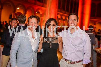 Dave Dochter, Melanie Potts, Josh Kreider, 22nd Annual Sinatra Soiree, hosted by the Capital Club, at the National Building Museum, Thursday July 17th, 2014.  Photo by Ben Droz.