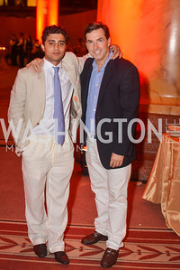 Samir Kapadia, Bobby Schwartz,  22nd Annual Sinatra Soiree, hosted by the Capital Club, at the National Building Museum, Thursday July 17th, 2014.  Photo by Ben Droz.