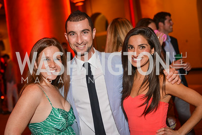 Rachel Kennedy, Daniel Kramer, Ava Deylami,  22nd Annual Sinatra Soiree, hosted by the Capital Club, at the National Building Museum, Thursday July 17th, 2014.  Photo by Ben Droz.