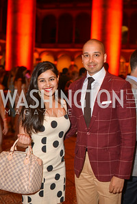 Sameena Khan, Sim Khan,  22nd Annual Sinatra Soiree, hosted by the Capital Club, at the National Building Museum, Thursday July 17th, 2014.  Photo by Ben Droz.