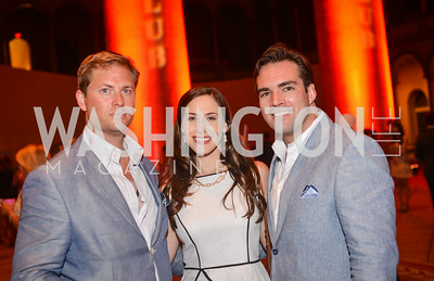 Garrick Davis, Alexandra Kwit, Carl Bedell,  22nd Annual Sinatra Soiree, hosted by the Capital Club, at the National Building Museum, Thursday July 17th, 2014.  Photo by Ben Droz.