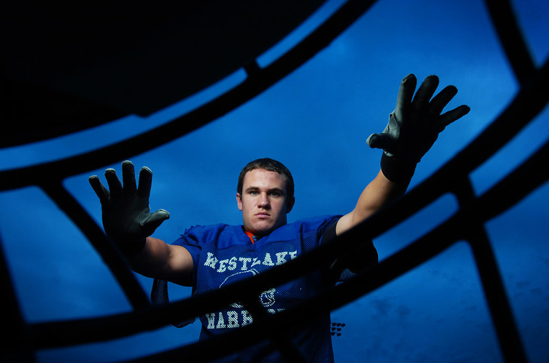 Westlake High School football team senior linebacker Zach Dunaj is the leader of the Warrior defense.