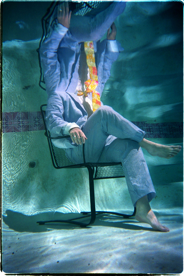 Perfect for hot, humid summer days, this seersucker suit is advertised as wash and wear.