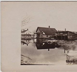 Flooding in Helena N.Y. 1913