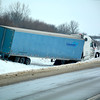 Towing several semis has been made difficult due to a lack of traction and heavy snow in ditches on Interstate 57.