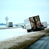 Several semi trucks are stuck in the ditch around mile post 170 on Interstate 57.