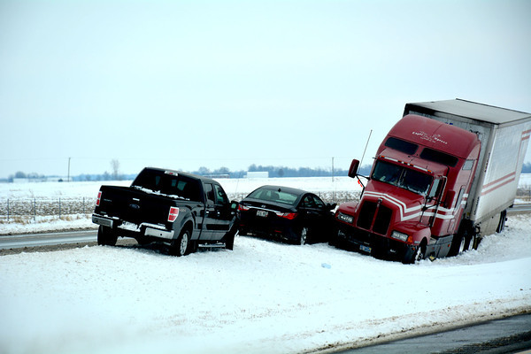 Vehicles are still in ditches on Interstate 57 Wednesday afternoon