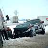 Many vehicles sustained extensive damage and are still waiting to be towed out of ditches on Interstate 57.