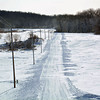 This country road experienced drifting snow after it was plowed Monday afternoon.
