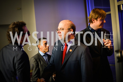 Congressman Jim McGovern, Erik Huey, Sony and the ESA celebrate the Playstation 4 Carnegie Library.  Photo by Ben Droz.
