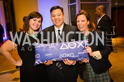 Danielle Rodman, Kevin Chung, Diana Lawson,  Sony and the ESA celebrate the Playstation 4 Carnegie Library.  Photo by Ben Droz.