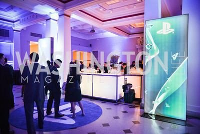 Sony and the ESA host a celebration for Playstation 4 at Carnegie Library.  April 2nd 2014.  Photo by Ben Droz .