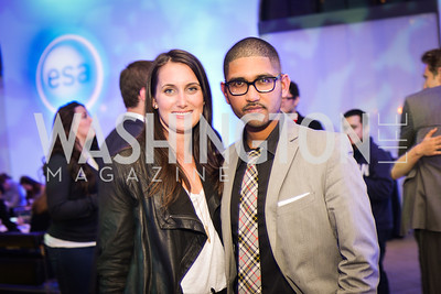 Jenna Pelkey, Vikram Aiyer, Sony and the ESA host a celebration for Playstation 4 at Carnegie Library.  April 2nd 2014.  Photo by Ben Droz .