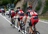 As Cancellara moves away, Evans, Sanchez and Quinziato are off the back, clearly unwell or just struggling...