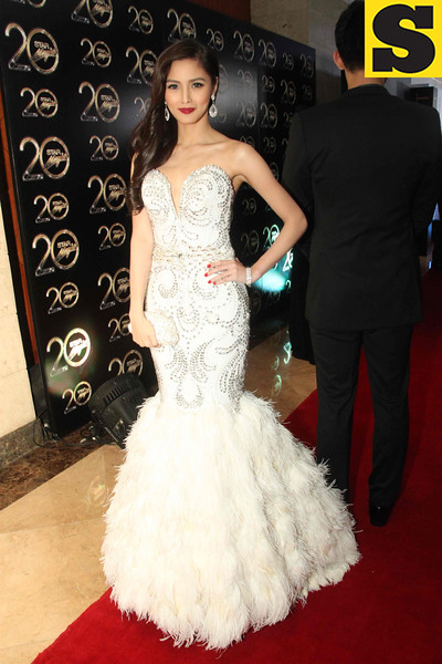 Cebuana actress Kim Chiu, in her old Hollywood inspired Edwin Tan gown