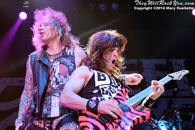 Steel Panther perform at the Tsongas Center in Lowell, MA on October 14, 2014