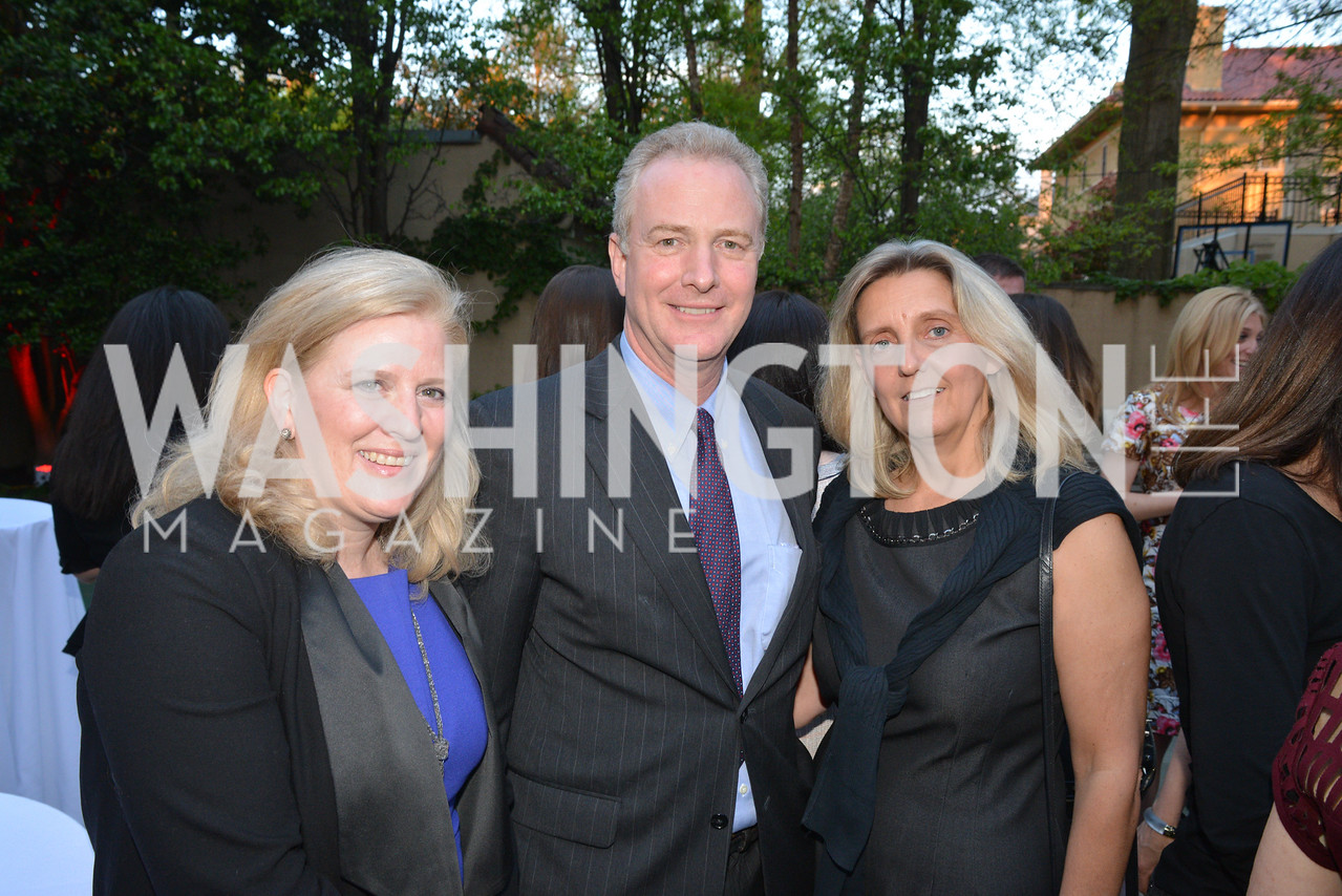 Dierde Walsh, Congressman Chris Van Hollen, Katherine Van Hollen,  Story Partners kicks begins WHCD weekend with a salute to women in journalism.  Thursday, May 1st, 2014.  by Ben Droz.