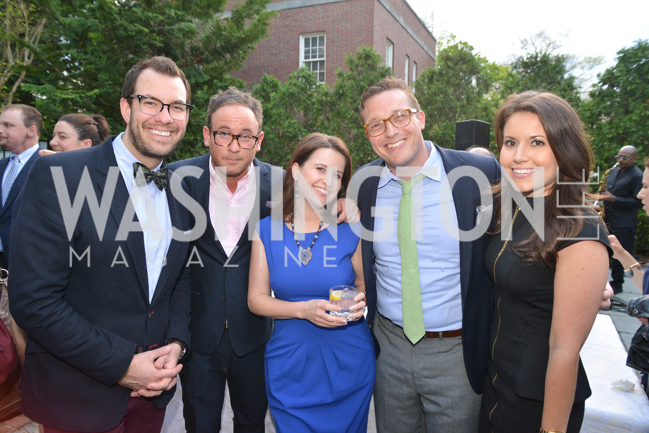 Christopher Gilesperger, Matt Dornic, Christina Bellantoni, Benny Johnson, Lauren Pratapas, Story Partners kicks begins WHCD weekend with a salute to women in journalism.  Thursday, May 1st, 2014.  by Ben Droz.