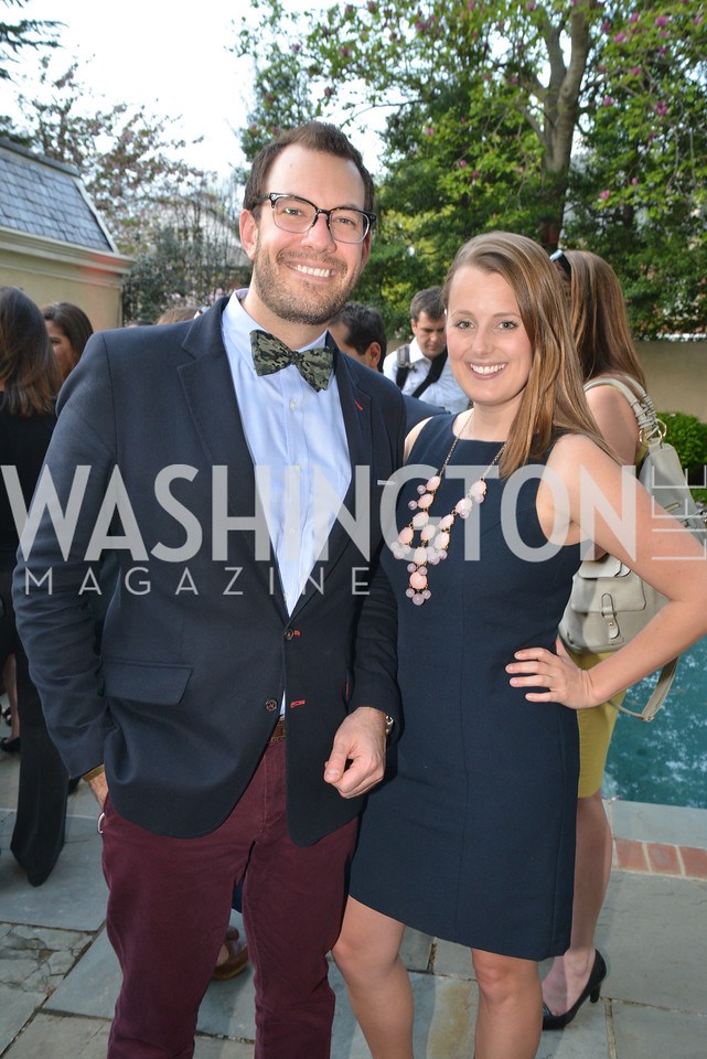 Chris Gindlesperger and Lauren French, Story Partners kicks begins WHCD weekend with a salute to women in journalism.  Thursday, May 1st, 2014.  by Ben Droz.