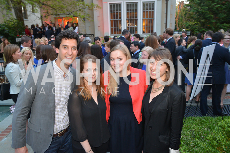 Sloan Eddleston, Genevieve Powers, Eliza Murphy, Annie Augusteen , Story Partners kicks begins WHCD weekend with a salute to women in journalism.  Thursday, May 1st, 2014.  by Ben Droz.