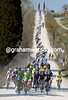 The peloton is starting to chase on those white Tuscan roads with the gap at over eleven minutes..!