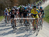 Daniele Bennati leads the way for Tinkoff with four un-surfaced sections to go...