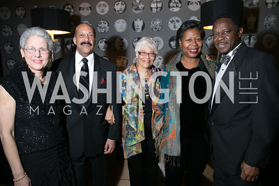 Susan Butler, Bill Tompkins, Leonade Jones, Sabrina McMillion, Jimmy McMillion. Photo by Alfredo Flores. Studio Theatre Gala. Studio Theatre. February 8, 2014.