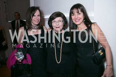 Carole Feld, Phyllis Feld, Cintia Guimaraes. Photo by Alfredo Flores. Studio Theatre Gala. Studio Theatre. February 8, 2014-3.CR2