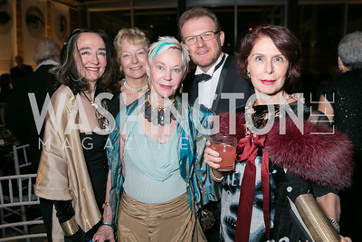 Sandy Read, Wendy Garner, Betsy Stewart, Bruno Falda, Annette Polan. Photo by Alfredo Flores. Studio Theatre Gala. Studio Theatre. February 8, 2014.