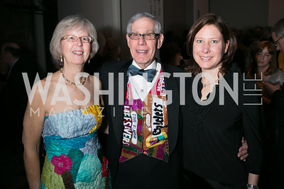 Bobbi Terkowitz, Ralph Terkowitz, Jen Moyer. Photo by Alfredo Flores. Studio Theatre Gala. Studio Theatre. February 8, 2014