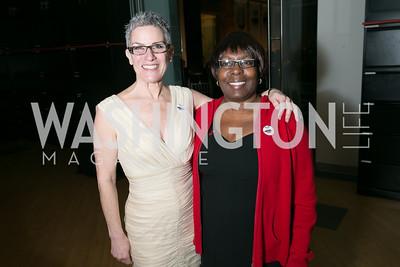 Lisa Grill, Fay Arrington. Photo by Alfredo Flores. Studio Theatre Gala. Studio Theatre. February 8, 2014.