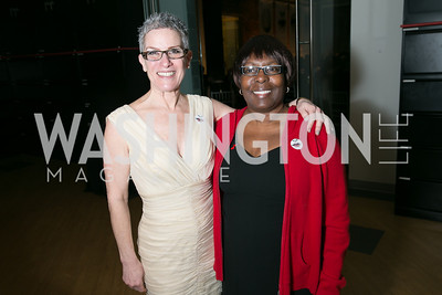 Lisa Grill, Fay Arrington. Photo by Alfredo Flores. Studio Theatre Gala. Studio Theatre. February 8, 2014.
