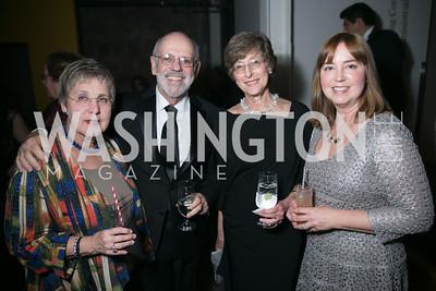 Nancy Bliss, Mark Aron, Cindy Aron, Sheila Boyle. Photo by Alfredo Flores. Studio Theatre Gala. Studio Theatre. February 8, 2014-3.CR2