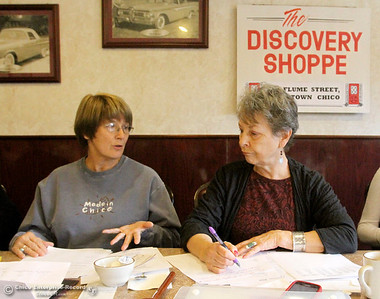 Lynn Kamph, treasurer, and Elisabeth Stewart, president, and other members of the Discovery Shoppe had a board meeting to decide which charities get allocations from the Shoppe's thrift store during their meeting at the Cozy Diner. They voted on allocating $90,000 on Monday, November 18, 2013. (Frank Rebelo/Staff Photo)