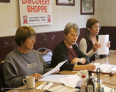 Lynn Kamph, treasurer, Elisabeth Stewart, president, and Cherie McGuire, head of charity, along with other members of Discovery Shoppe had a board meeting to decide which charities get allocations from the Shoppe's thrift store. They voted on allocating $90,000 on Monday, November 18, 2013 at the Cozy Diner. (Frank Rebelo/Staff Photo)