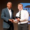 John P. Cleary | The Herald Bulletin <br /> Johnny Wilson with award winner Jake Wilson of Elwood.