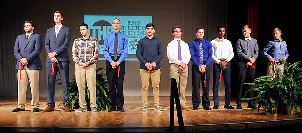 John P. Cleary | The Herald Bulletin <br /> THB Sports Awards Boys Athlete of the Year finalists.