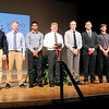 John P. Cleary | The Herald Bulletin <br /> Johnny Wilson with all the boys Johnny Wilson Award finalists.