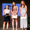 John P. Cleary | The Herald Bulletin <br /> Girls Breakout Player finalists, Kathryn Perry, Shenandoah basketball, the winner; Kaitlyn Bair, Alexandria softball, and Jordan Benefiel, Pendleton softball.