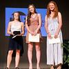 John P. Cleary | The Herald Bulletin <br /> Girls Breakout Player finalists, Kathryn Perry, Shenandoah basketball, the winner; Kaitlyn Bair, Alexandria softball, and Jordan Benefiel, Pendleton softball.
