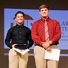 John P. Cleary | The Herald Bulletin <br /> THB Sports Awards boys Scholar Athlete winner is Aaron Litherland of Elwood, with finalist Dalton Andrew of Alexandria.